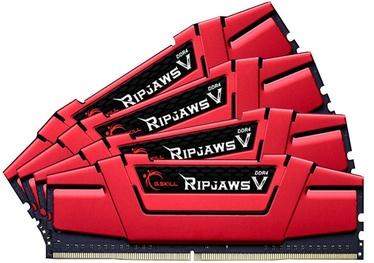 G.SKILL RipJawsV 32GB 3000MHz CL15 DDR4 KIT OF 4 F4-3000C15Q-32GVR Red