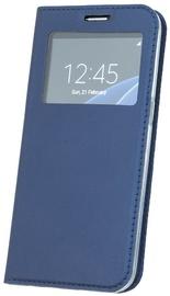Blun Premium Matt Eco-leather Smart S-View Book Case For Huawei Mate 10 Lite Dark Blue