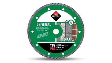 Deimantinis turbinis pjovimo diskas Rubi Pro, 230 x 23.22 x 2.5 mm