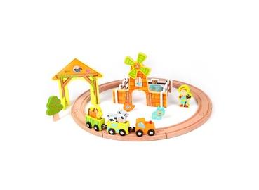 Rotaļlieta koka vilciens komplekts 25