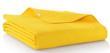 Gultas pārklājs DecoKing Messli, dzeltena, 240x220 cm