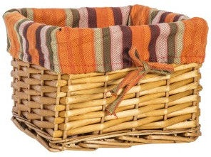 Home4you Basket Max 3 22x22xH15cm Light Brown/Orange