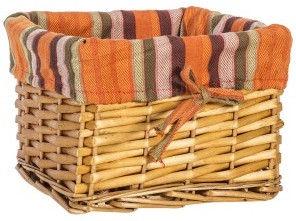 Home4you Basket Max 3 22x22xH15cm Light Brown/Orange