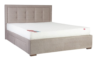Home4you Duke New Bed w/ Mattress Olympia Top 160x200cm Beige