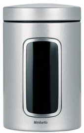 Brabantia Window Canister 1.4l Metallic Grey