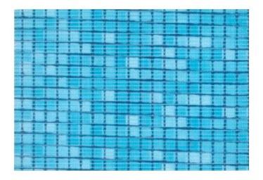 Vannitoavaip Thema Lux M971 sinine mustriga 0,65 m