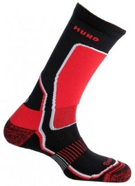 Zeķes Mund Socks Nordic Skating/Indoor Hockey Black/Red, XL, 1 gab.