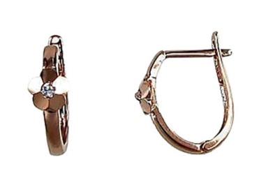 Diamond Sky Gold Earrings Gold Chamomile