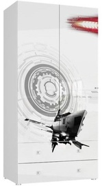 Skapis Tuckano Spaceship 05 White, 100x55x201 cm