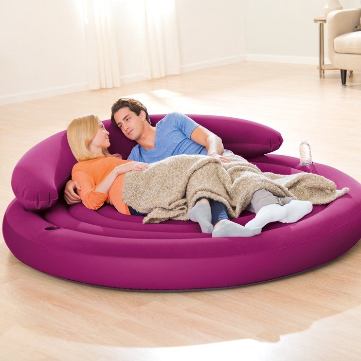 Madrats täispuhut Intex Ultra Daybed Lounge Purple 68881