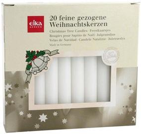 Eika Christmas Tree Candles White 20pcs