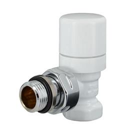 Kampinis termostatinis ventilis, Carlo Poletti V142310E, 1/2 x 1/2 IN, baltas
