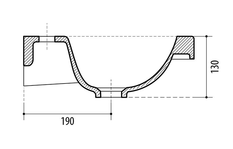 Vonios spintelė su praustuvu Riva ESSENCE SA63-2