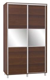 Bodzio SZP120 Sliding Wardrobe w/ Mirror 120x210cm Walnut