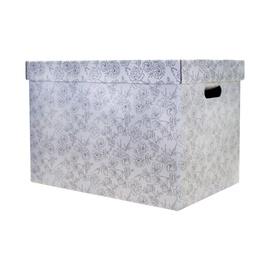 Dėžė su dangčiu ir rankena, 35 x 26 x 21 cm