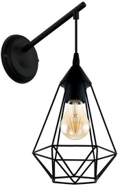 Verners Tarbes Wall Lamp 60W E27 Black