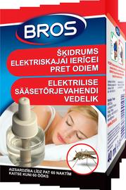 Vabzdžių atbaidymo skystis Bros, aparatams, 40 ml