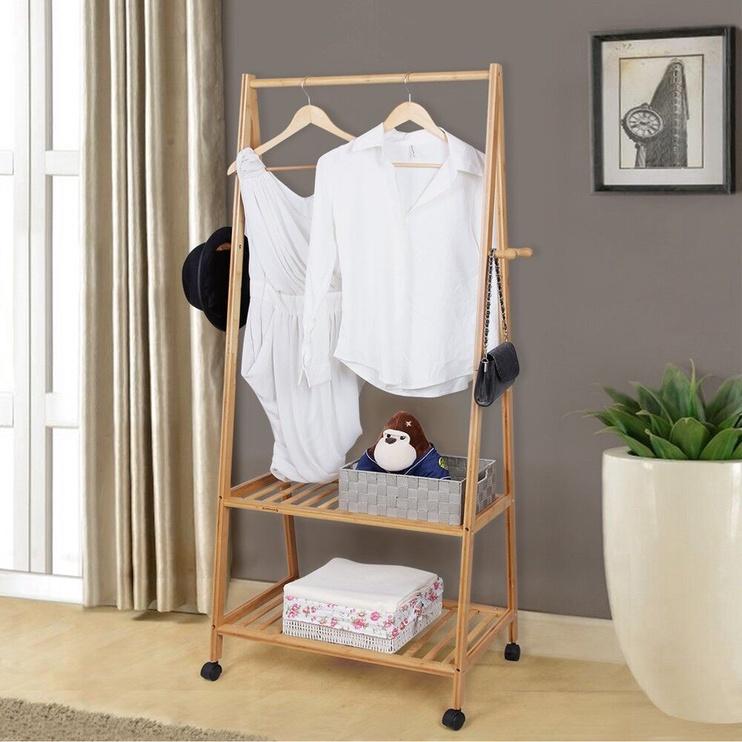 Вешалка для одежды Songmics Bamboo, коричневый