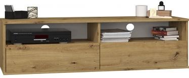 TV galds Top E Shop Rumba 140, brūna, 1380x400x380 mm