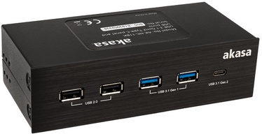 Akasa InterConnect GX USB 3.1 Gen2 Type-C Panel and USB Ports