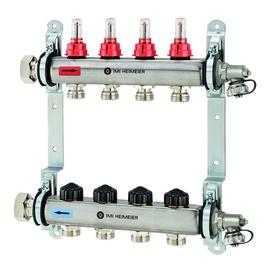 "IMI Heimeier Dynalix Colector 1"" With Flowmeter 6-loop"