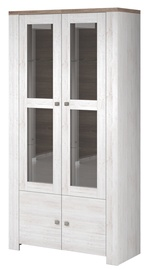 Idzczak Meble Newada 12 2D Glass Cabinet Northland/Sonoma Oak Trufla