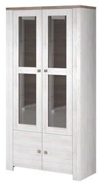 Idzczak Meble Newada 12 2D Glass Cabinet Northland/Sonoma Oak Trufla