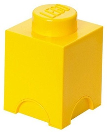 LEGO Storage Brick 1 Knob Yellow