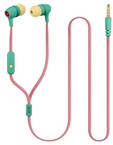Ausinės Forever JSE-200 In-Ear Teal/Yellow