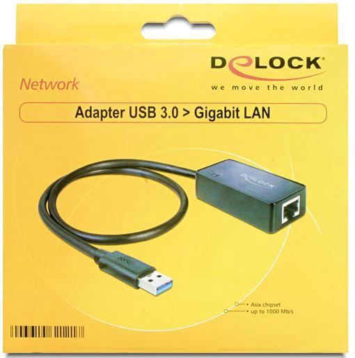 Delock Adapter USB to Gigabit LAN Black
