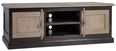 Home4you TV Table Watson 180x50x60cm Oak/Black