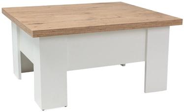 Signal Meble Ola Coffee Table 80x90cm Oak/White