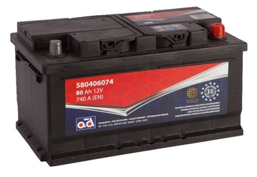 AD Baltic 580406074 Starter Battery 80Ah