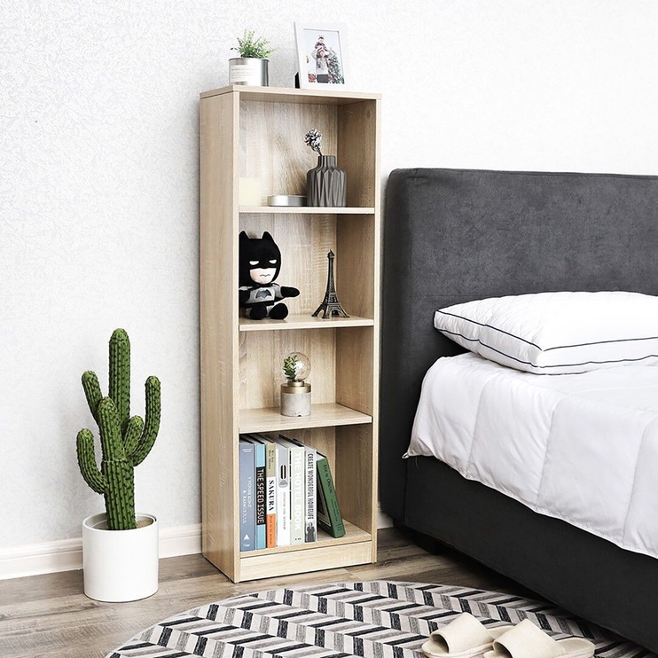Songmics Book Shelf Wooden 40x24x121.5cm