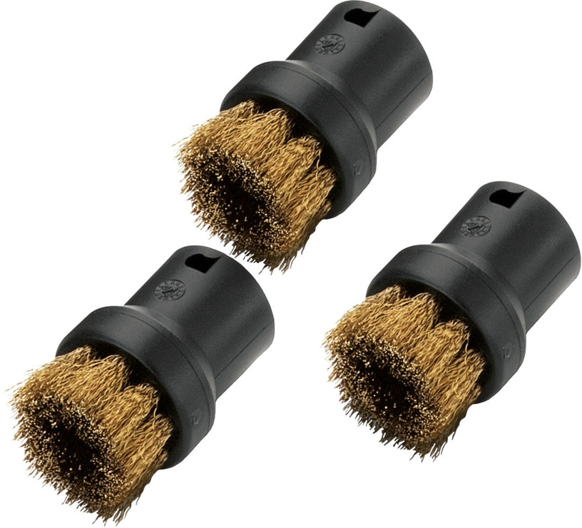 Karcher Round Brushes with Brass Bristles 3pcs