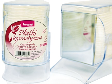 DNC Personal Cotton Pads In Holder With Mirror