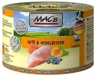 Mac's Dog Turkey & Blueberries 200g