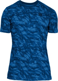 Under Armour Sportstyle Printed SS Shirt 1305671-437 Blue L