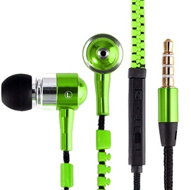 Ausinės FreeStyle Zip Universal Headphones Green