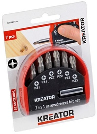 Kreator PZ Screwdriver Bit Set 7pcs