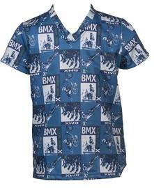 Bars Mens T-Shirt Blue 35 116cm
