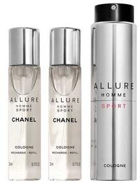 Kvepalai Chanel Allure Homme Sport, 3x20ml EDC Refillable Travel Spray