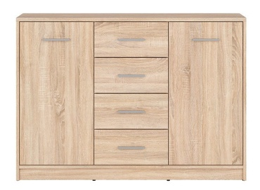 Black Red White Chest of Drawers Nepo KOM2D4S Sonoma Oak
