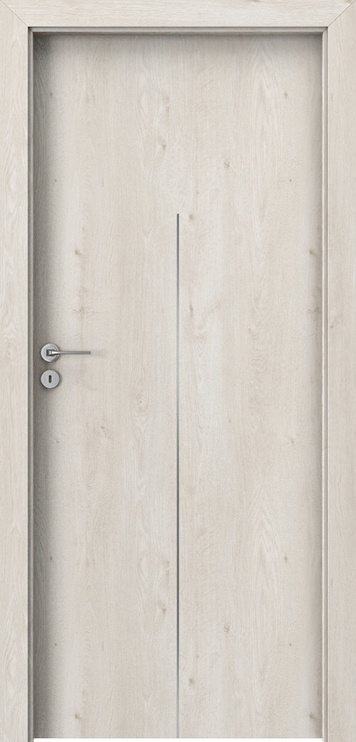 Полотно межкомнатной двери Porta line H1, дубовый, 203 см x 74.4 см x 4 см