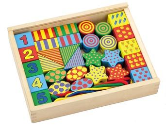 Dekoravimo rinkinys Viga Lacing Blocks 58505