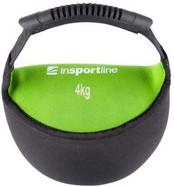 inSPORTline Neoprene Dumbbell Bell-Bag Black/Green 4kg