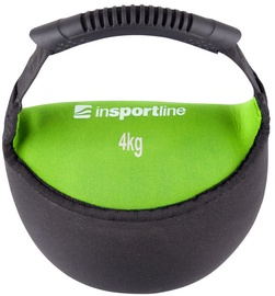inSPORTline Neoprene Dumbbell Bell-Bag Black/Green 4kg