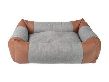 Кровать для животных Amiplay Classic, коричневый/серый, 460x580 мм