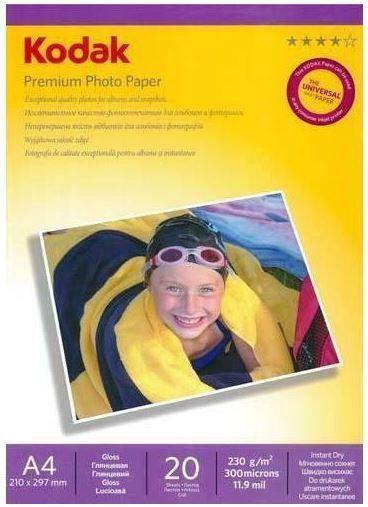 Kodak Photo Paper Gloss A4 210 x 297mm 230g 20Sh