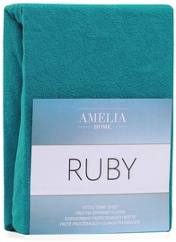AmeliaHome Ruby Frote Bedsheet 200-220x200 Turquoise 48